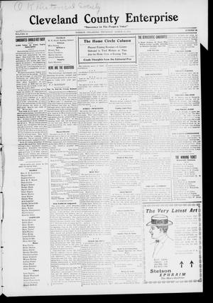 Cleveland County Enterprise. (Norman, Okla.), Vol. 19, No. 39, Ed. 1 Thursday, March 30, 1911