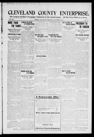Cleveland County Enterprise. (Norman, Okla.), Vol. 20, No. 17, Ed. 1 Thursday, October 26, 1911