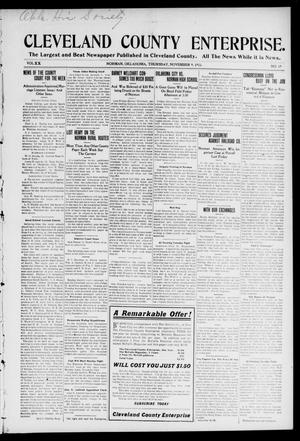 Cleveland County Enterprise. (Norman, Okla.), Vol. 20, No. 19, Ed. 1 Thursday, November 9, 1911