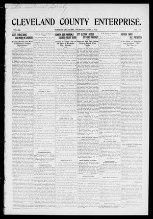Cleveland County Enterprise. (Norman, Okla.), Vol. 20, No. 40, Ed. 1 Thursday, April 4, 1912