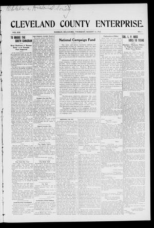 Cleveland County Enterprise. (Norman, Okla.), Vol. 21, No. 7, Ed. 1 Thursday, August 15, 1912