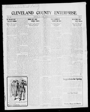 Primary view of object titled 'Cleveland County Enterprise. (Norman, Okla.), Vol. 21, No. 35, Ed. 1 Thursday, March 6, 1913'.