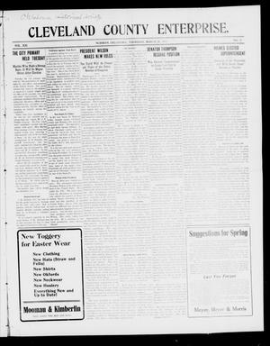 Cleveland County Enterprise. (Norman, Okla.), Vol. 21, No. 37, Ed. 1 Thursday, March 20, 1913