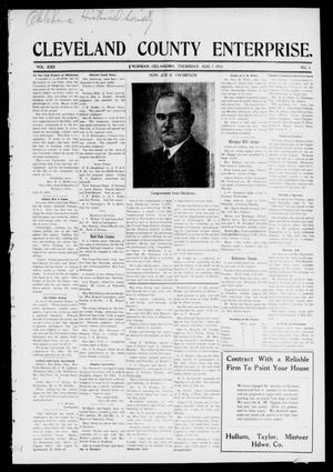 Cleveland County Enterprise. (Norman, Okla.), Vol. 22, No. 5, Ed. 1 Thursday, August 7, 1913