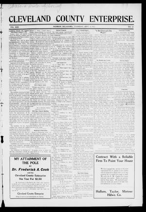 Cleveland County Enterprise. (Norman, Okla.), Vol. 22, No. 10, Ed. 1 Thursday, September 11, 1913