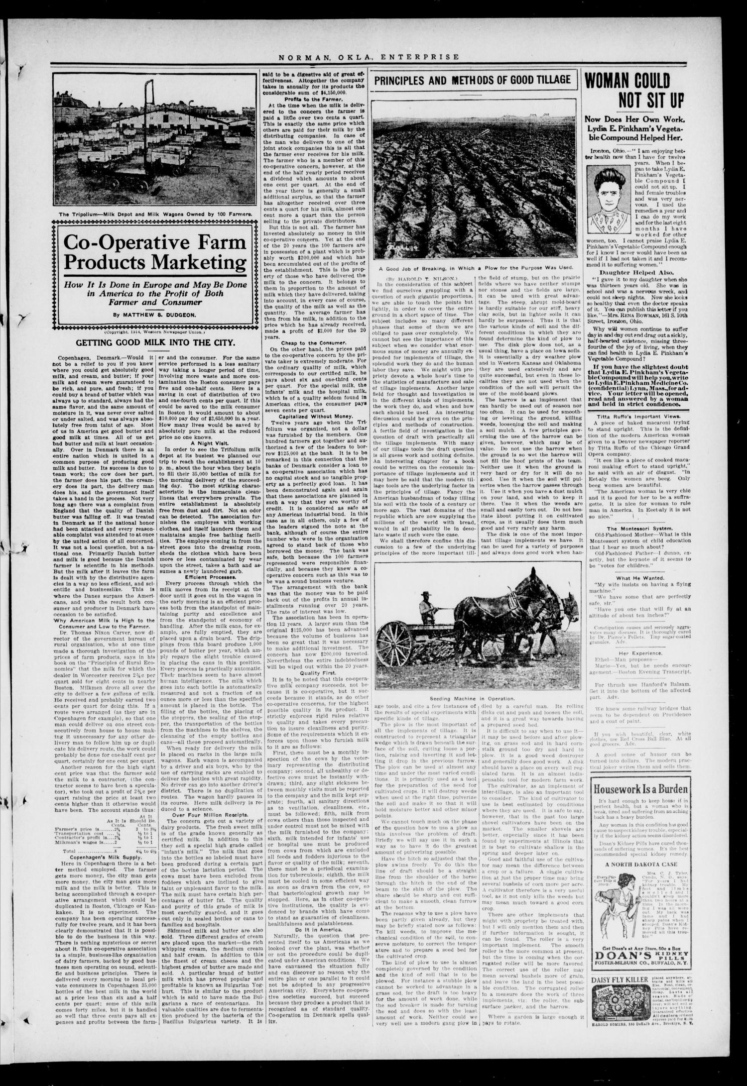 Cleveland County Enterprise. (Norman, Okla.), Vol. 22, No. 43, Ed. 1 Thursday, April 30, 1914                                                                                                      [Sequence #]: 3 of 8