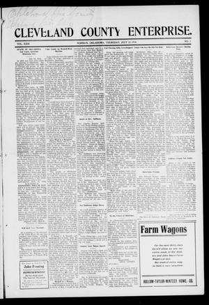 Cleveland County Enterprise. (Norman, Okla.), Vol. 23, No. 3, Ed. 1 Thursday, July 23, 1914