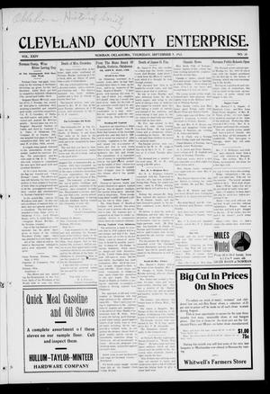 Cleveland County Enterprise. (Norman, Okla.), Vol. 24, No. 10, Ed. 1 Thursday, September 9, 1915