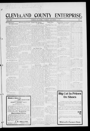 Cleveland County Enterprise. (Norman, Okla.), Vol. 24, No. 11, Ed. 1 Thursday, September 16, 1915