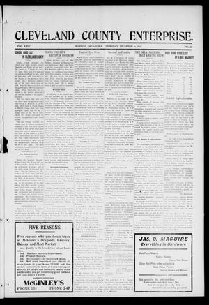 Cleveland County Enterprise. (Norman, Okla.), Vol. 24, No. 24, Ed. 1 Thursday, December 16, 1915