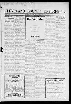 Primary view of object titled 'Cleveland County Enterprise. (Norman, Okla.), Vol. 24, No. 26, Ed. 1 Thursday, December 30, 1915'.