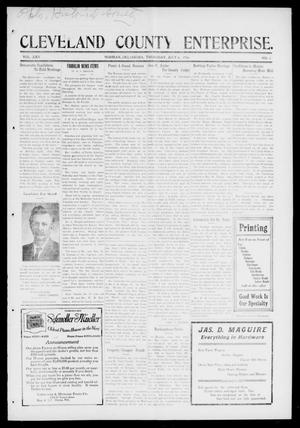 Cleveland County Enterprise. (Norman, Okla.), Vol. 25, No. 1, Ed. 1 Thursday, July 6, 1916