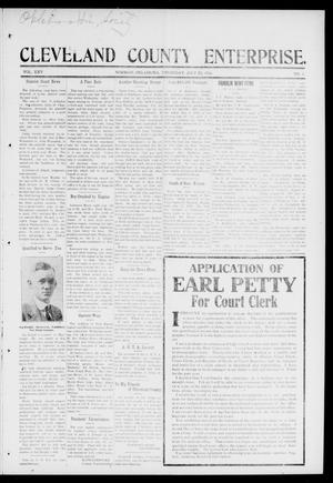 Cleveland County Enterprise. (Norman, Okla.), Vol. 25, No. 3, Ed. 1 Thursday, July 20, 1916