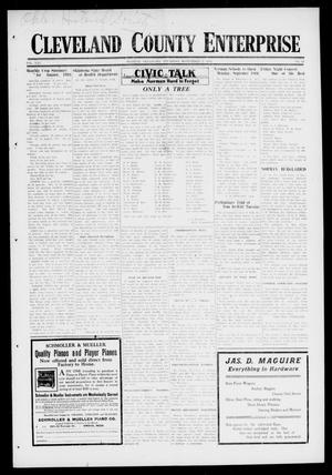 Primary view of object titled 'Cleveland County Enterprise (Norman, Okla.), Vol. 25, No. 10, Ed. 1 Thursday, September 7, 1916'.
