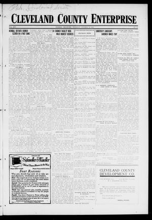 Primary view of object titled 'Cleveland County Enterprise (Norman, Okla.), Vol. 25, No. 16, Ed. 1 Thursday, October 19, 1916'.