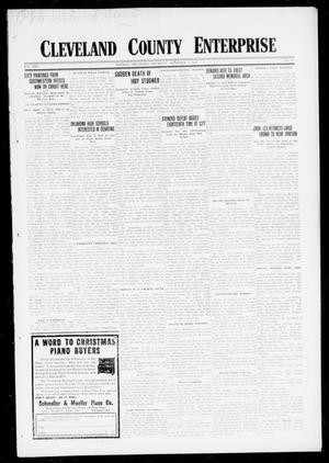 Cleveland County Enterprise (Norman, Okla.), Vol. 25, No. 23, Ed. 1 Thursday, December 7, 1916