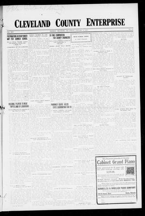 Primary view of object titled 'Cleveland County Enterprise (Norman, Okla.), Vol. 25, No. 28, Ed. 1 Thursday, January 11, 1917'.