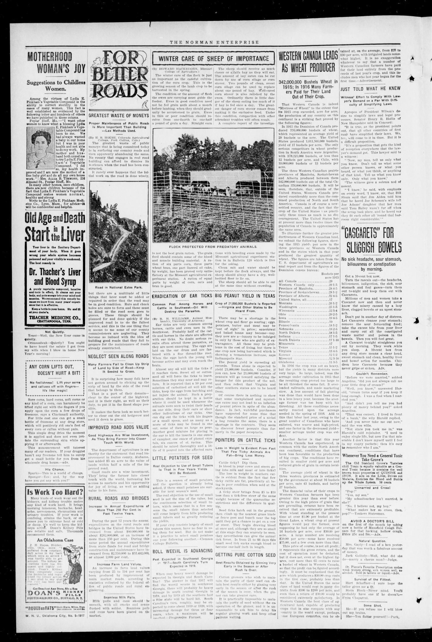 Cleveland County Enterprise (Norman, Okla.), Vol. 25, No. 31, Ed. 1 Thursday, February 1, 1917                                                                                                      [Sequence #]: 2 of 12
