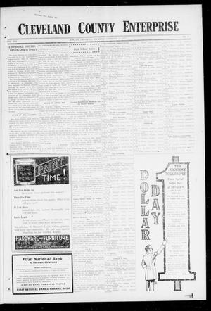 Primary view of object titled 'Cleveland County Enterprise (Norman, Okla.), Vol. 25, No. 33, Ed. 1 Thursday, February 15, 1917'.