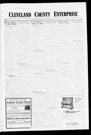 Primary view of object titled 'Cleveland County Enterprise (Norman, Okla.), Vol. 25, No. 39, Ed. 1 Thursday, March 29, 1917'.