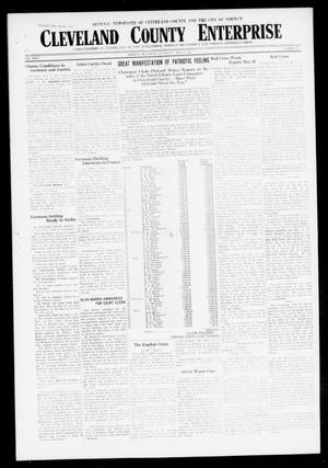 Primary view of object titled 'Cleveland County Enterprise (Norman, Okla.), Vol. 26, No. 45, Ed. 1 Wednesday, May 9, 1917'.
