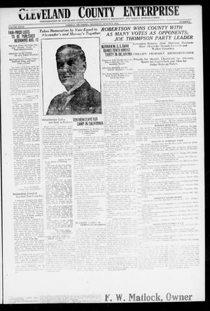 Cleveland County Enterprise (Norman, Okla.), Vol. 27, No. 6, Ed. 1 Wednesday, August 8, 1917