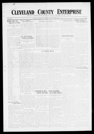 Primary view of object titled 'Cleveland County Enterprise (Norman, Okla.), Vol. 26, No. 10, Ed. 1 Thursday, September 6, 1917'.