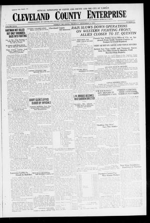 Cleveland County Enterprise (Norman, Okla.), Vol. 27, No. 11, Ed. 1 Wednesday, September 12, 1917