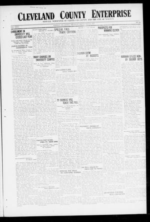 Primary view of object titled 'Cleveland County Enterprise (Norman, Okla.), Vol. 26, No. 12, Ed. 1 Thursday, September 20, 1917'.