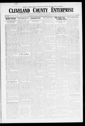 Primary view of object titled 'Cleveland County Enterprise (Norman, Okla.), Vol. 26, No. 20, Ed. 1 Thursday, November 15, 1917'.