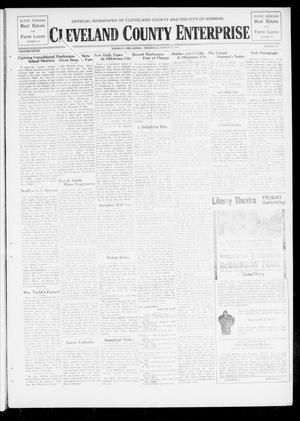 Primary view of object titled 'Cleveland County Enterprise (Norman, Okla.), Vol. 27, No. 39, Ed. 1 Wednesday, March 27, 1918'.
