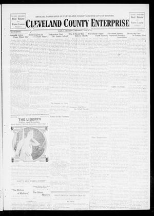 Primary view of object titled 'Cleveland County Enterprise (Norman, Okla.), Vol. 27, No. 41, Ed. 1 Wednesday, April 10, 1918'.