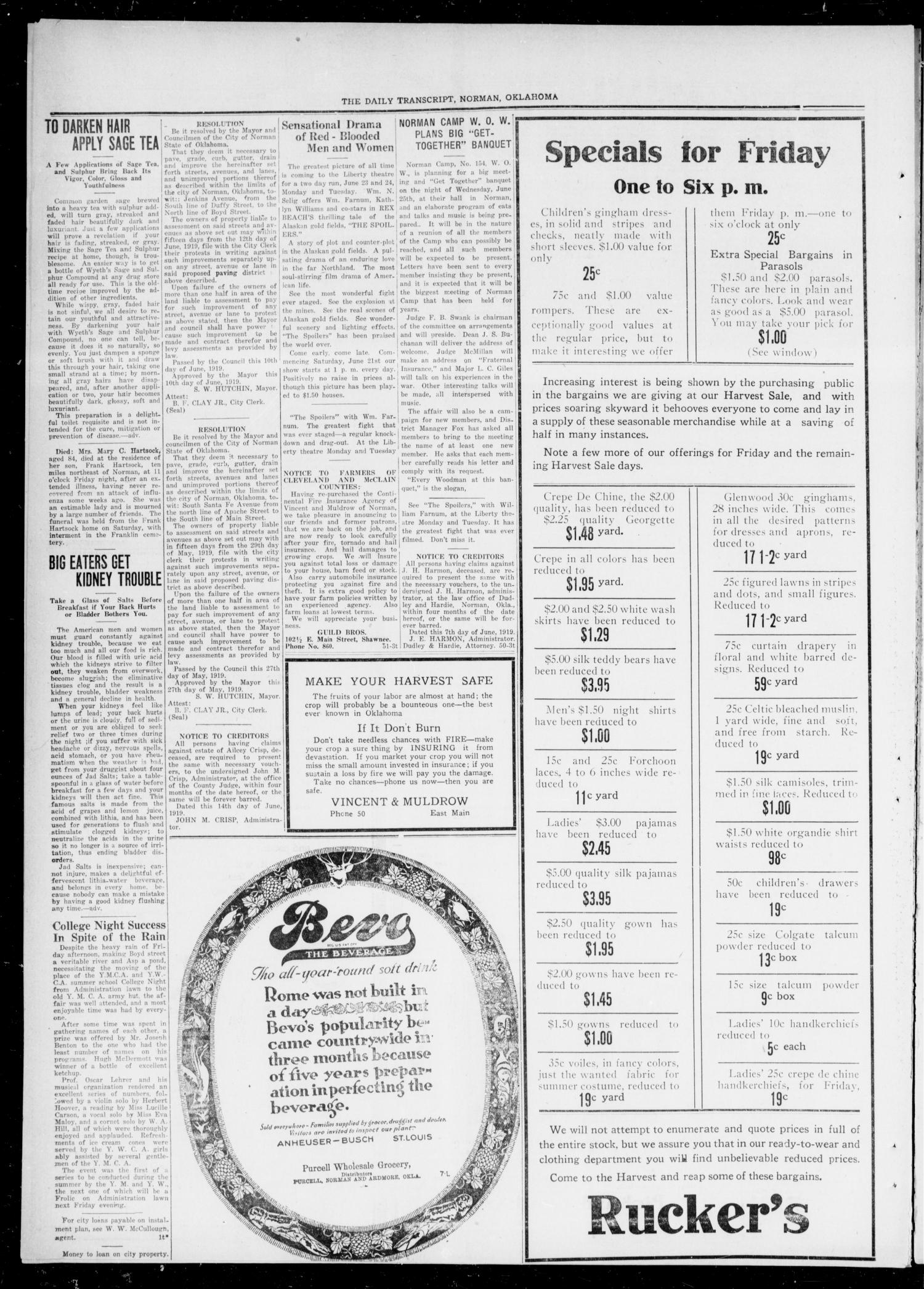 Cleveland County Enterprise (Norman, Okla.), Vol. 27, No. 51, Ed. 1 Wednesday, June 19, 1918                                                                                                      [Sequence #]: 4 of 4