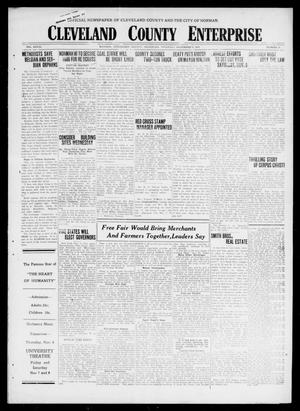 Cleveland County Enterprise (Norman, Okla.), Vol. 27, No. 19, Ed. 1 Thursday, November 6, 1919