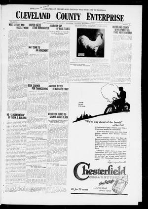 Cleveland County Enterprise (Norman, Okla.), Vol. 27, No. 22, Ed. 1 Thursday, November 27, 1919