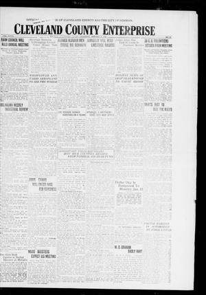 Primary view of object titled 'Cleveland County Enterprise (Norman, Okla.), Vol. 27, No. 28, Ed. 1 Thursday, January 8, 1920'.