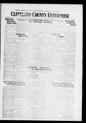 Cleveland County Enterprise (Norman, Okla.), Vol. 27, No. 30, Ed. 1 Thursday, January 22, 1920