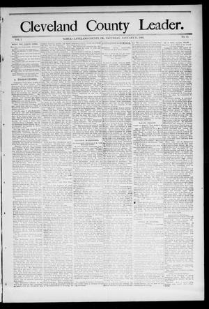 Primary view of object titled 'Cleveland County Leader. (Noble, Okla.), Vol. 1, No. 40, Ed. 1 Saturday, January 7, 1893'.
