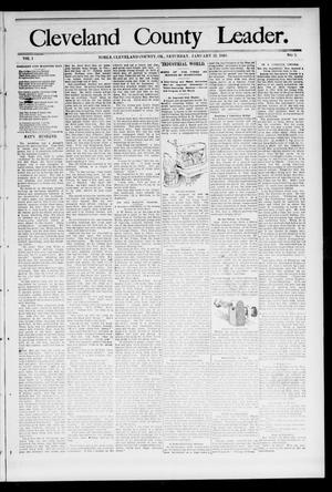 Primary view of object titled 'Cleveland County Leader. (Noble, Okla.), Vol. 1, No. 41, Ed. 1 Saturday, January 14, 1893'.
