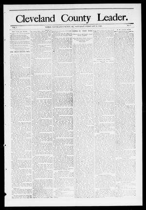 Primary view of object titled 'Cleveland County Leader. (Noble, Okla.), Vol. 1, No. 6, Ed. 1 Saturday, February 11, 1893'.