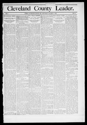 Primary view of object titled 'Cleveland County Leader. (Noble, Okla.), Vol. 1, No. 18, Ed. 1 Saturday, May 6, 1893'.
