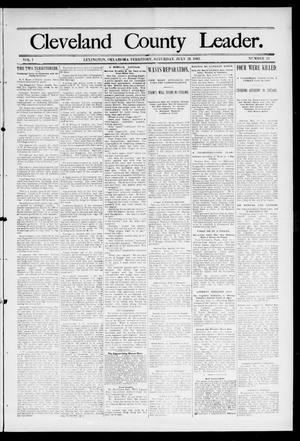 Primary view of object titled 'Cleveland County Leader. (Lexington, Okla.), Vol. 1, No. 29, Ed. 1 Saturday, July 22, 1893'.