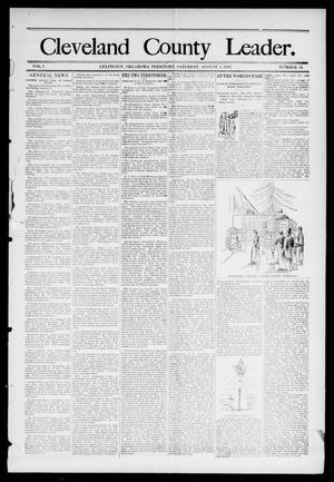 Primary view of object titled 'Cleveland County Leader. (Lexington, Okla.), Vol. 1, No. 31, Ed. 1 Saturday, August 5, 1893'.