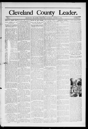 Primary view of object titled 'Cleveland County Leader. (Lexington, Okla.), Vol. 1, No. 41, Ed. 1 Saturday, October 14, 1893'.