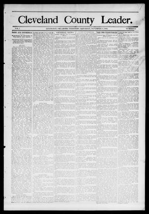 Primary view of object titled 'Cleveland County Leader. (Lexington, Okla.), Vol. 1, No. 44, Ed. 1 Saturday, November 4, 1893'.