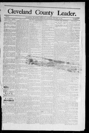 Primary view of object titled 'Cleveland County Leader. (Lexington, Okla.), Vol. 2, No. 1, Ed. 1 Saturday, January 6, 1894'.