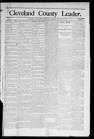 Primary view of object titled 'Cleveland County Leader. (Lexington, Okla.), Vol. 2, No. 2, Ed. 1 Saturday, January 13, 1894'.