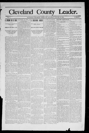 Primary view of object titled 'Cleveland County Leader. (Lexington, Okla.), Vol. 2, No. 3, Ed. 1 Saturday, January 20, 1894'.