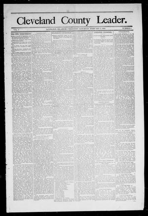 Primary view of object titled 'Cleveland County Leader. (Lexington, Okla.), Vol. 2, No. 4, Ed. 1 Saturday, January 27, 1894'.