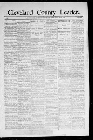 Primary view of object titled 'Cleveland County Leader. (Lexington, Okla.), Vol. 2, No. 6, Ed. 1 Saturday, February 10, 1894'.